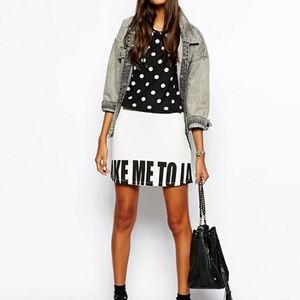 ASOS A-Line Take Me to LA Print Skirt